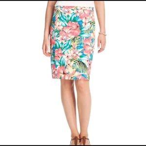 LOFT Tropical Pencil Skirt - Tall